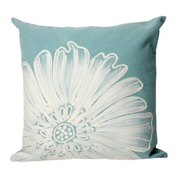 "Antique Medallion Aqua Print 20"" By 20"" Decorative Throw Pillow - This beautiful indoor / outdoor decorative throw pillow is made of 100% polyester microfiber. The cover has a zipper closure so you can take out the fiberfill inner pillow for hand-washing if you need to. The pillow measures 20 inchs by 20 inches. It looks just as great in your home or on your patio or wherever you want a dash of color."