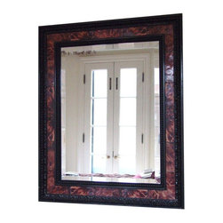 Used Faux Tortoise Shell Mirror A Stunning Faux Tortoise