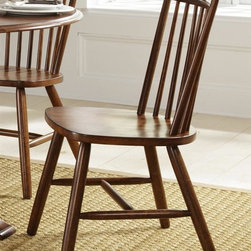 Liberty Furniture - Creations II Side Chair - Set of 2 - Set of 2. Sturdy spindle back. Nylon chair glides. Warranty: One year. Made from select hardwoods. Tobacco finish. Made in Malaysia. 20 in. W x 22 in. D x 36 in. H (33 lbs.)