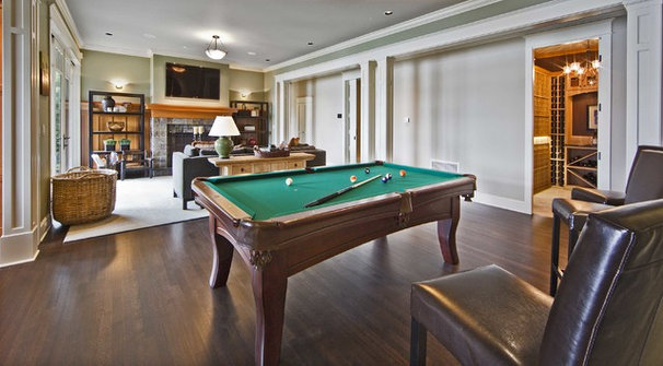Traditional Basement by Shuler Architecture