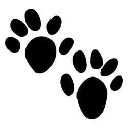 Stencil Ease - Otter Animal Tracks Stencil - Otter Animal Tracks Stencil - BASIC Stencils Collection