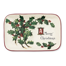 Vintage Christmas Postcard Platter - This vintage Christmas Postcard platter is perfect for displaying Christmas cookies, or even a letter to Santa.