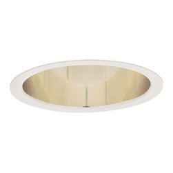Lightolier - Lytecaster 1112 6.75 Inch Reflector Cone Downlight Trim - Lytecaster 1112 6.75 Inch Deep Reflector Downlight Trim with Specular Gold reflector and Matte White or Natural Metal trim flange. Requires 120 volt compact fluorescent or medium base incandescent/halogen/LED lamp, not included. Lamp type and wattage dependent on trim kit and frame-in kit combination per attached manufacturer spec sheet. A complete fixture consists of a trim kit and frame-in kit, sold separately.