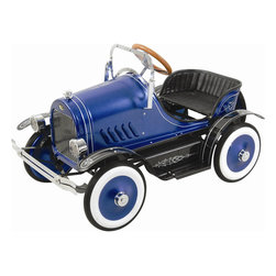 Kids Blue Roadster Pedal Car - Your Little Driver Will Enjoy Cruising With Their Friends On This Vintage Roadster. Classic Detailing Designs And A Glossy Bodywork Finish Make This Stylish Roadster Turn Heads As Your Child Cruises Down The Street. This Deluxe Roadster Comes Complete With Working Headlights, Adjustable Windshield And A Spare Wheel.   Features:  *Recommended Age: 3+ *Maximum Rider Weight: 66 Lbs *Glossy Bodywork Finishing *Classic Body Striping *A Spare Wheel *Adjustable Windshield *Steerable Wheels *Working Headlights *Sturdy Metal Body *Vehicle Dimensions: 37.5X22X24 Inches *Vehicle Weight: 41 Lbs *Box Dimensions: 38X22X23 Inches *Box Weight: 49 Lbs *Warranty: 30 Days Parts Replacement *Shipped Insured! *Brand New!