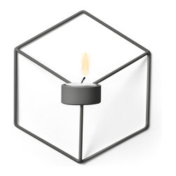 MENU - POV Wall Candleholder, Warm Grey - POV Candle Holder is a light, smart and playful product that can be used as a single piece or in a group. Beautiful on its own and stunning as graphical patterns on the wall or on the table.