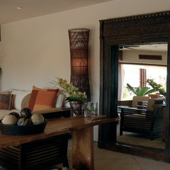 tropical living room by Lori Gilder