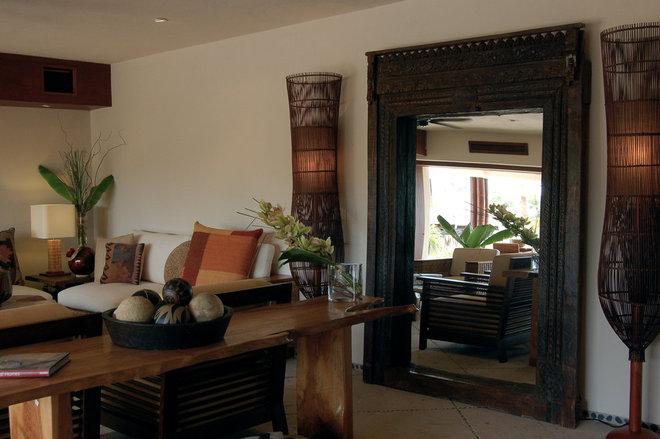 Tropical Living Room by Lori Gilder