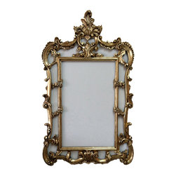 Fancydecor - Gold French Wall Frame Baroque Style - This would look amazing as an empty frame on the wall as part of your decor, you can add a large art piece to it, or a mirror.