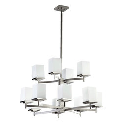 Quorum International - Quorum 6084-12-65 Delta 12Lt Chandelier - Stn - Quorum 6084-12-65 Delta 12LT Chandelier - Stn