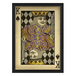 "The Artwork Factory - ""King of Spades"" Print - Raise the stakes in your royal kingdom. This high quality print comes framed and ready to hang in your pub, game room or anywhere you need to stack the deck with style."
