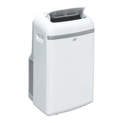 Sunpentown Portable Air Conditioner with Heater - 14000 BTU - More Features:Auto re-start after power failure3 fan speedsFire-resistant PVC plastic housingRemoves moisture for lower humidityEco-friendly R410 refrigerantWashable, reusable air filterCasters for easy mobilityChoice of programmable timer (24 hours) or continuous operationAuto-swing louversExtendable exhaust hoseBuilt-in water tank or continuous drainage option (hose not included)Power cord storageKeep your space comfortable with the Sunpentown Portable Air Conditioner with Heater – 14000 BTU. It offers both cooling and heating for year-round comfort. It uses 14,000 BTUs to cool spaces up to 700 square-feet, and 11,000 BTUs for heat. Use the four operational modes for maximum comfort.About SunpentownSunpentown International designs and manufactures small home appliances for convenient kitchen use. Sunpentown is the largest single producer of induction cooktops in the world, controlling over 70% of the domestic market. Aiming to stay at the forefront of induction technology, Sunpentown is proud to introduce a new line of uniquely competitive built-in and Wok induction cooktops to appeal to the increasingly global market of the 21st century.