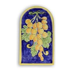 Ceramic - Italian Grapes Arch Plaque - Italian Grapes Arch Plaque