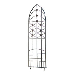 H Potter - Love Knots Metal Garden Trellis - This lovely trellis incorporates many shapes, angles and, therefore, many different ways for you to showcase your plantings. It also features nine decorative accents that peek through flowers and vines, for added charm.