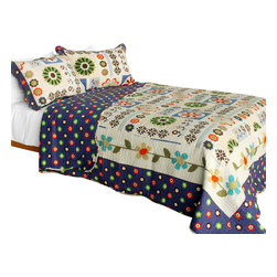 Blancho Bedding - [Someone Like You] Cotton 3PC Vermicelli-Quilted Patchwork Quilt Set Full/Queen - Set includes a quilt and two quilted shams (one in twin set). Shell and fill are 100% cotton. For convenience, all bedding components are machine washable on cold in the gentle cycle and can be dried on low heat and will last you years. Intricate vermicelli quilting provides a rich surface texture. This vermicelli-quilted quilt set will refresh your bedroom decor instantly, create a cozy and inviting atmosphere and is sure to transform the look of your bedroom or guest room. Dimensions: Full/Queen quilt: 90 inches x 98 inches  Standard sham: 20 inches x 26 inches.