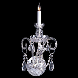 Crystorama - Crystorama 1141-CH-CL-SAQ Traditional Crystal 1 Light Mini Chandeliers in Polish - Traditional crystal pieces are classic, timeless, and elegant. Crystorama''s opulent glass arm chandeliers are nothing short of spectacular. This collection is offered in a variety of crystal grades to fit any budget. For a touch of class, order this collection in Gold for traditionalists or in Chrome to match your contemporary or transitional decor.