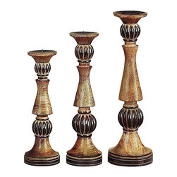 Benzara - Wood Candle Holder - Set of 3 - Delight the spaces with extraordinary lights. Wood Candle Holder S/3 is an excellent anytime low priced decor upgrade option with great utility for everyone.