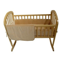 "American Baby Company 3 Piece Organic Cotton Velour Cradle Set - Mocha - A rich mocha color and 100% organic harvesting and production process will give your baby the softest possible place to rest when their crib is outfitted with the American Baby Company 3 Piece Organic Cotton Velour Cradle Set - Mocha. Made of organically grown and harvested cotton this soft velour crib set is the softest thing you can put next to your little one's sensitive skin.Comforter dimensions: 30W x 45L inchesSheet dimensions: 28W x 52L inchesBumper dimensions: 10H inchesAbout American Baby CompanyAmerican Baby Company Inc. is a leading U.S. manufacturer of baby bedding that emphasizes high-quality comfort and safety. They are a leader in the industry at providing fast delivery of premium-quality products at reasonable prices. American Baby Company's bedding line coordinates with all types of nursery settings and their solid color collection is updated annually to provide the latest """"in trend"""" colors. American Baby Company has been an innovator of products that meet the safety needs of their customers. Their safety crib sheet which has been featured in leading baby and mothering magazines is an example of this focus."