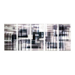Matthew's Art Gallery - Metal Wall Art Abstract Sculpture Handmade Urbanization - Name:  Urbanization