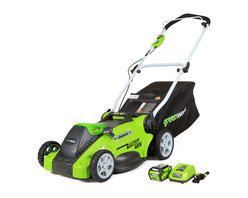 None - GreenWorks G-MAX 16-inch Cordless Lawn Mower - GreenWorks 25322 G-MAX 40V Cordless 16 inch Mower with 40V 4 AH Li-Ion Battery and Charger Inc.