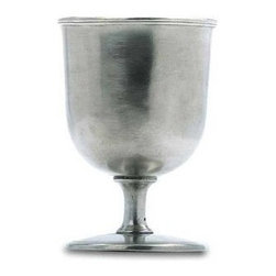 Match Pewter - Beer Goblet by Match Pewter - This impressive pewter bar collection from Match pewter wont go unnoticed at your next gathering. A collection handmade in northern Italy, each piece bears a stamped symbol from the region in which it was made.