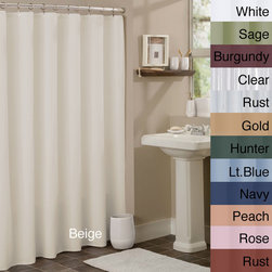 None - Anti-mildew Vinyl Shower Curtain Liner - Keep your shower clean and mildew-free with this premium shower curtain liner. Pairing nicely with any shower curtain to provide a waterproof barrier,this liner is antibacterial and composed of mildew-resistant materials and rust-proof metal grommets.