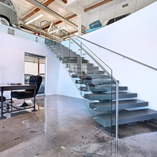 Modern Staircase by Brandon Architects, Inc.