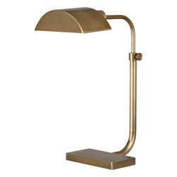 Robert Abbey - Koleman Task Lamp - Keep yourself focused on the tasks at hand with a task lamp that provides focused light. The solid metal shade sheds light in a way that keeps you on track better than a life coach. Don't be surprised if people start asking for advice.