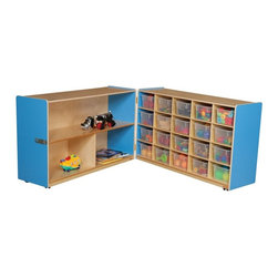 Wood Designs - Wood Designs Half and Half Storage with 20 Clear Trays - WD14631B - Shop for Childrens Toy Boxes and Storage from Hayneedle.com! About WDM Inc.For 30 years Wood Designs has put passion for the enrichment and safety of children into quality wooden early learning furniture. Dennis and Debbie Gosney the couple behind this labor of love have taken their 50 years combined experience in child development furniture manufacturing and built a company at the forefront of innovation and safety. Intuitive design coupled with novel safety features like Pinch-me-not hinges and Tip resistant furniture set Wood Designs apart from the typical early learning furniture manufacturers.
