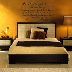 Across the Years Vinyl Wall Decal A008AcrossVI, Green, 18 in. - Vinyl Wall Quotes are an awesome way to bring a room to life!