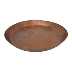 BrandWave - Hammered Tray, Medium, Copper - The antique hand-hammered copper patina finish creates a unique, irregular shape and gives this piece a vintage feel.