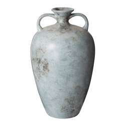 Lazy Susan - Lazy Susan 857088 Mottled Starling Vase - This beautiful blue mottled earthenware vase is the perfect focal point for a corner in your foyer or bathroom. Add a lovely branch of faux pussy willow or pink cherry blossoms to add appeal and beauty.