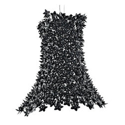Kartell - Bloom Pendant - Bloom Pendant is available in a Black, White, Transparent Crystal or Pink and Black.  Cascades of crystalline flowers flow across the Kartell Bloom Pendant in a new interpretation of the traditional light. The Bloom is composed of a poly carbonate tubular framework encrusted with tiny double corolla poly carbonate flowers. A series of bulbs positioned along the internal framework diffuses beams of light through the petals and reflects off their faceted surfaces.  Three 70 watt, 120 volt A19 type Medium base Halogen lamps are required but not included. 21 inch width x 27.5 inch height x 94.5 inch overall length.