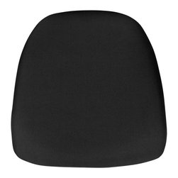 Flash Furniture - Flash Furniture Hard Black Fabric Chiavari Chair Cushion - Hard cushions are the most popular choice in the Rental and Event industry offering firm support. The double-sided tape backing allows secure adhesion to chairs. [BH-BLACK-HARD-GG]