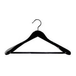 Proman Products - Libra Wide Shoulder Suit Hanger - Set of 12 - Set of 12. Midnight Black Finish. Case Size: 16 in. L x 16 in. W x 8 in. H (8 lbs.)