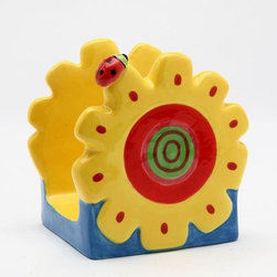 ATD - 3.25 Inch Yellow and Red Sun Flower with Ladybug Letter/Napkin Holder - This gorgeous 3.25 Inch Yellow and Red Sun Flower with Ladybug Letter/Napkin Holder has the finest details and highest quality you will find anywhere! 3.25 Inch Yellow and Red Sun Flower with Ladybug Letter/Napkin Holder is truly remarkable.
