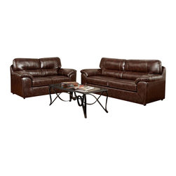 Chelsea Home Furniture - Chelsea Home Dorchester 2-Piece Living Room Set in Cheyenne Cafi - Dorchester 2-Piece Living Room Set in Cheyenne Cafe belongs to the Chelsea Home Furniture collection