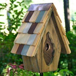 Vintage Wren Bird House - Bird enthusiasts will enjoy watching this Vintage Wren Bird House turn into a bird home when it is placed near trees or large bushes in your yard. It is made of eco-friendly, non-toxic materials and will provide years of enjoyment due to its sturdy, hand-crafted construction.