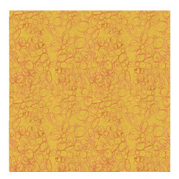 Guildery - Hahuatl Fabric: Yellow - Fabric by the yard for your custom sewing or upholstery projects. Fabric is sold in full-yard increments.