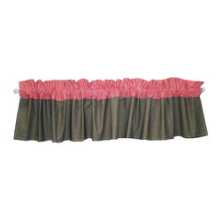 Trend Lab - Trend Lab Baby Cocoa Coral Window Valance - 110209 - Shop for Window Treatments from Hayneedle.com! Add the finishing touch to your nursery with the Trend Lab Baby Cocoa Coral Window Valance. This cotton fabric features a white mini dot print on brown and coral sections. It measures 82L x 15H inches and fits a standard size window. Complete your nursery with coordinating room accessories from the Cocoa Coral Collection by Trend Lab. Coordinates with the Cocoa Coral Collection by Trend Lab.About Trend LabFormed in 2001 in Minnesota Trend Lab is a privately held company proudly owned by women. Rapid growth in the past five years has put Trend Lab products on the shelves of major retailers and the company continues to develop thoroughly tested high-quality baby and children's bedding decor and other items. Trend Lab continues to inspire and provide its customers with stylish products for little ones. From bedding to cribs and everything in between Trend Lab is the right choice for your children.