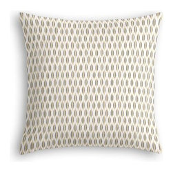 Gray & Yellow Ikat Dot Custom Euro Sham - The secret to those perfectly made beds you eye in magazines? Euro shams. Complete your bed set with a set of Simple Euro Shams for a look that's as stylish as it is snuggly.  We love it in this ikat dot in gray and gold on the softest white cotton sateen. As cute as it is contemporary.