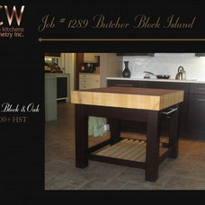 Transitional Kitchen Cabinetry by GCW Custom Kitchens & Cabinetry Inc.