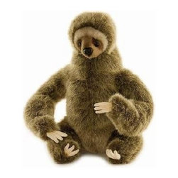 Hansa Toys - Hansa Three Toed Sloth - This realistic Three Toed Sloth is made of brown plush. Airbrushed for detail.  Handcrafted. Ages 3 and up.
