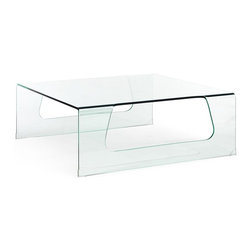 Zuo Modern - Rectangular Coffee Table - Warranty: One year limited. Made from tempered glass. Clear color. Assembly required. 39.6 in. W x 39.6 in. D x 14.7 in. H (88 lbs.)