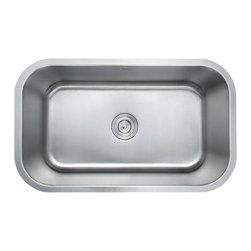 Kraus - Stainless Steel 31.5 in. Undermount Single Bowl Kitchen Sink - Add an elegant touch to your kitchen with a unique and versatile undermount sink from Kraus