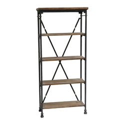 Industria Bookcase - Wood & Metal Bookcase in Reclaimed Wood & Metal Finish