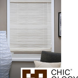 Chicology - Chicology Arden Sandy Beach Roman Shade - This Roman shade is made of a sheer fabric and comes with a built-in valance for a complete look. Stylish yet functional,these Roman shades are capable of being installed as an inside mount or outside mount with all mounting hardware included.
