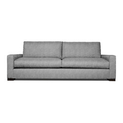 Thrive Furniture - Grant Mid Century Modern Sofa - Expectation Grey - The Grant Sofa is a mid century modern reporduction.  Customize yours with over 30 fabric and leather options and 3 wood finishes.  Made in the USA. Ask for Free fabric samples!  Items are custom made-to-order and shipped in 7 business days.