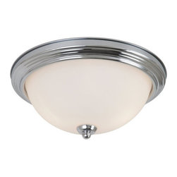 Sea Gull Lighting - Sea Gull Lighting 79164BLE Oslo Fluorescent Two Light Flush Mount Energy Star Ra - The Oslo ceiling fixture has a clean classic design that illuminate without being obtrusive.Features: