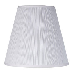 Pacific Coast - Brentwood Mushroom Pleated Shade 9x16x14.25 (Spider) - A traditional and tasteful mushroom pleated lamp shade from the Brentwood lamp shade Collection. A traditional and tasteful mushroom pleated lamp shade from the Brentwood Collection. White fabric with a mushroom pleat. Spider fitting. White finish fitter. The correct size harp is included free with this shade.