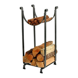 Enclume - Enclume LR2 HS Sling Rack Hammered Steel - LR2 HS SLING LOG RACK Our most popular log rack and renowned for its striking profile and utility, this vertical log rack stacks three cubic feet of wood and kindling on a square foot of floor space.